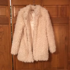 Forever 21 fluffy teddy bear coat